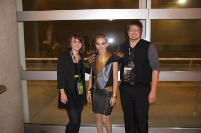 Justin and Me with Jessica after the show