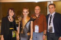 My Dad, brother Anthony, and I with Jessica after the runway