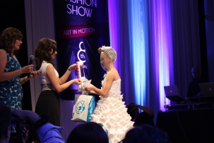 Jessica accepting the award for the Student Winner