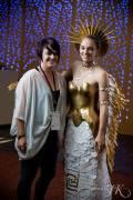 Designer Michelle Lieser-Booren with Model Jessica Lieser