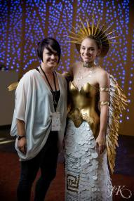 Designer Michelle Lieser-Booren with Model Jessica Lieser