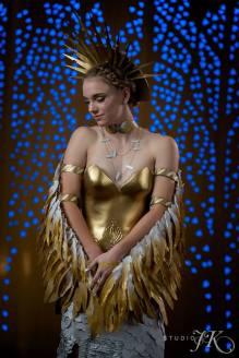 """The Guardian,"" Paper Fashion Show 2017, Team - The Hanger Etc., Lead Designers - Michelle Lieser-Booren, Model - Jessica Lieser"